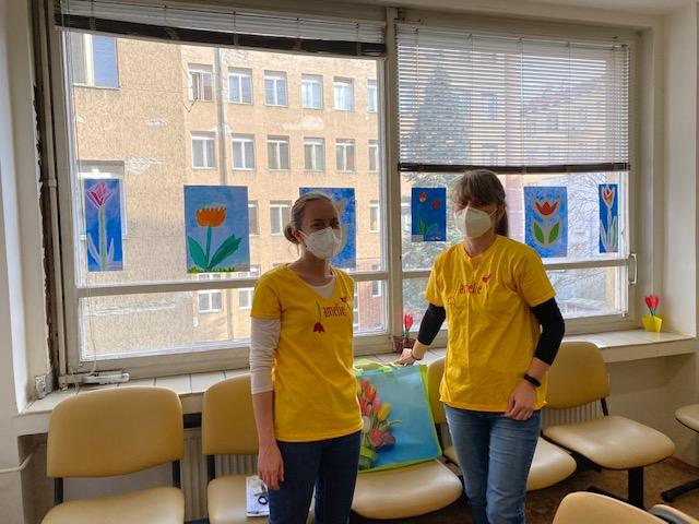 Dobrovolníci zdobí VFN v Praze