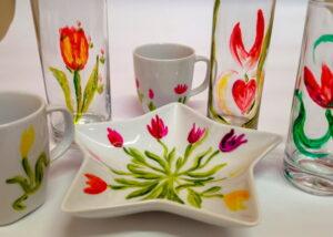 malování na porcelán a sklo