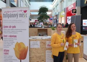 Prodej tulipánů v OC Metropole Zličín