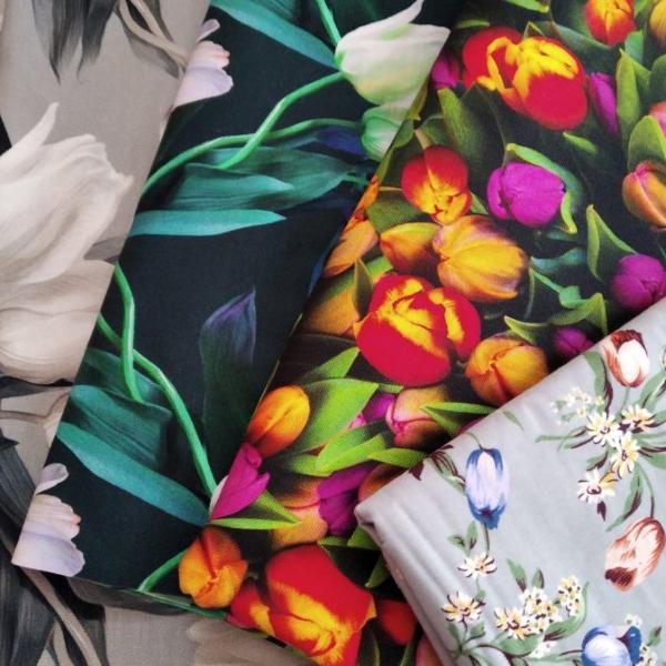 tulipánový obchůdek - látky
