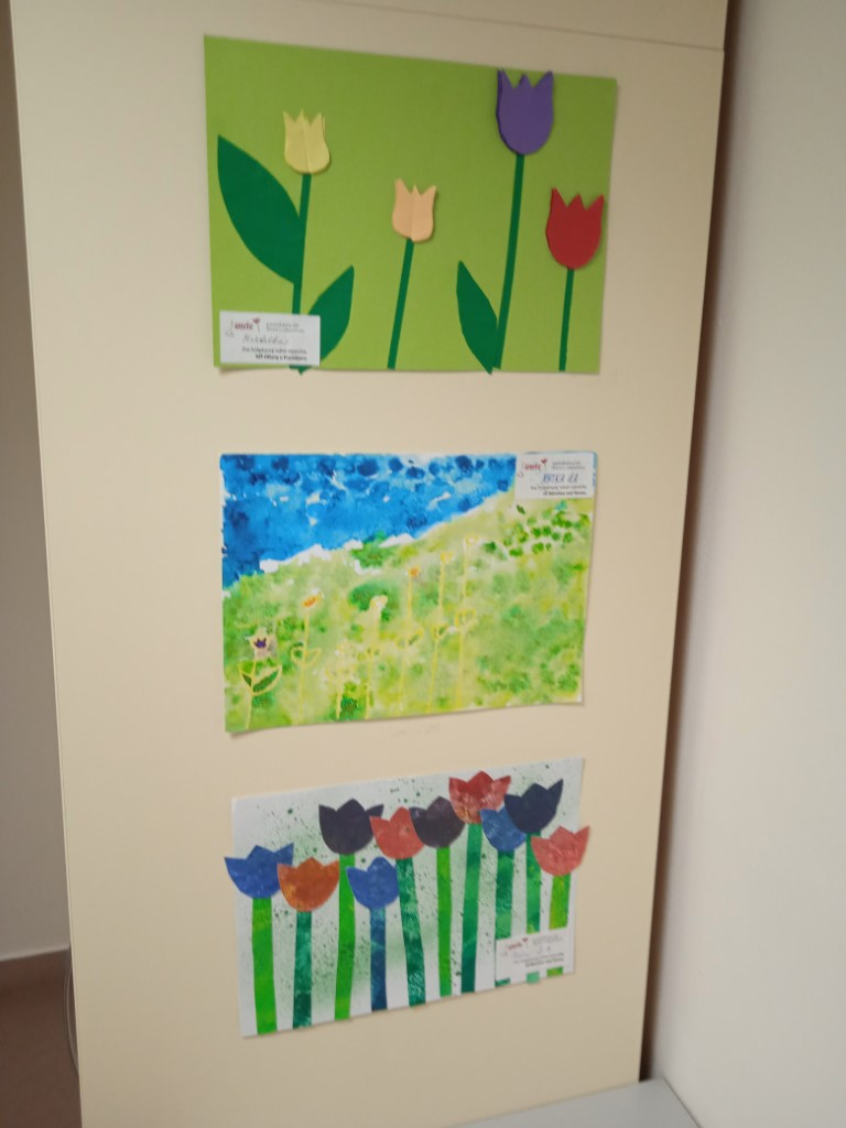 Výzdoba Tulipány-FNOL-oddělení trasfuze