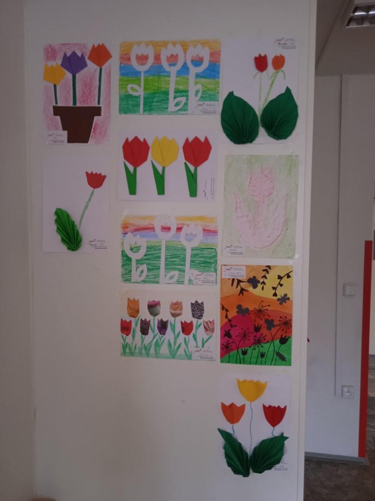 Výzdoba Tulipány-FNOL-onkologie
