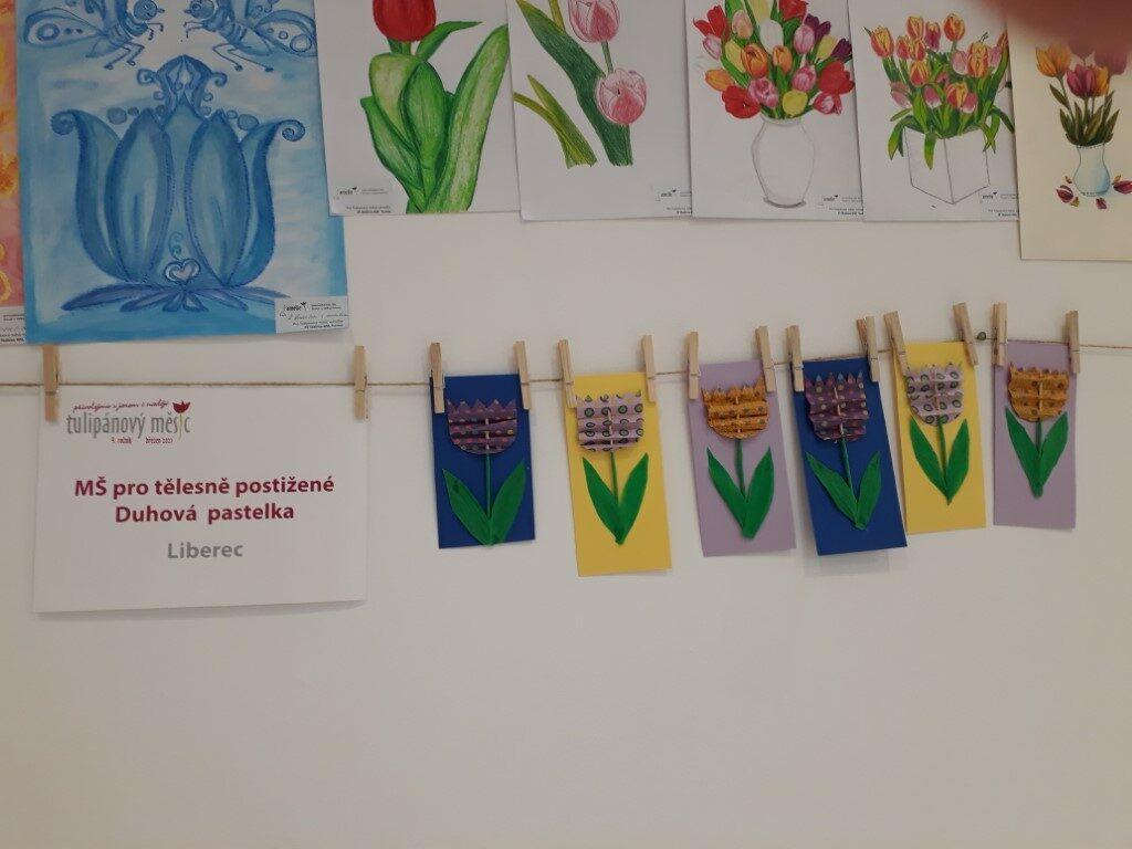 Výstava FORUM LIBEREC MŠ pro tělesně postižené Duhová pastelka